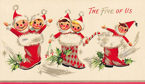 Vintage Greeting Card - Christmas by jerkingchicken