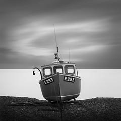 B E A C H E D (Weeman76) Tags: uk longexposure sea bw seascape southwest monochrome mono boat nikon devon le beached branscombe d90 nd110 paulwheeler e293 afszoomnikkor2470mmf28ged niksoft silverefexpro2 paulsimonwheeler