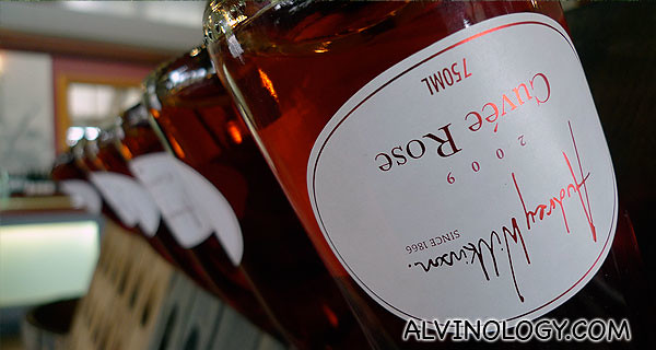 Signature rose wine