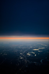 (michales) Tags: road city travel sunset clouds flying horizon lakes