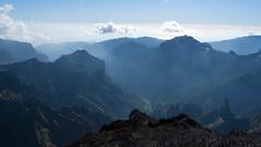 Blue mountains of Pico Ruivo (lionelofparis) Tags: blue skyline pico ruivo madeira