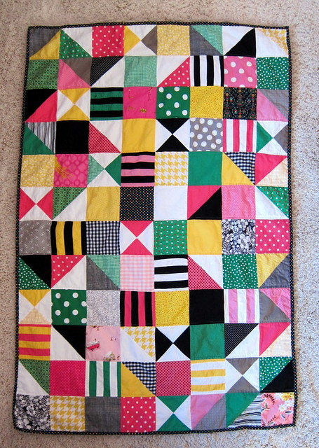 mod baby quilt, take 2 (licorice allsorts color version)