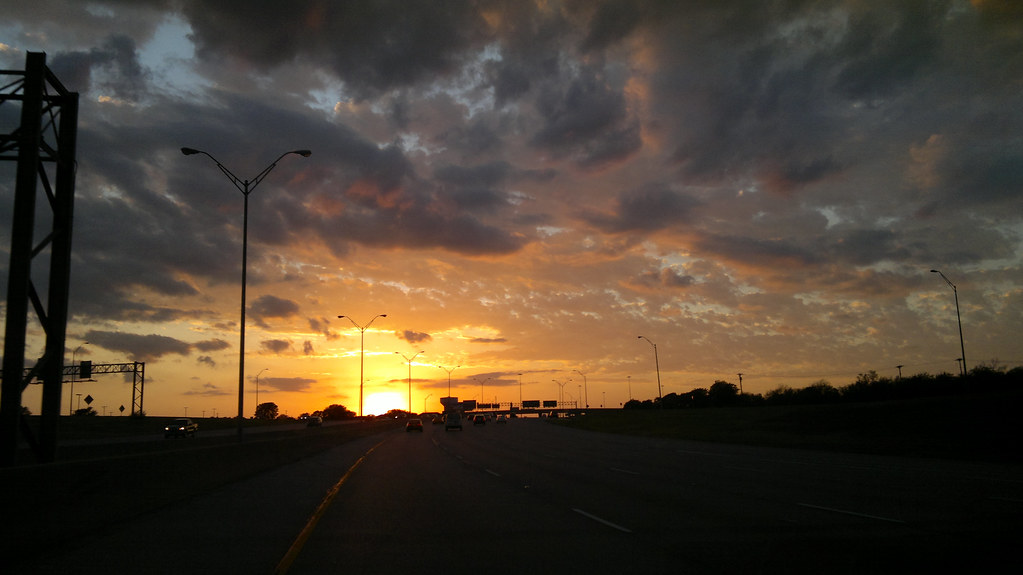 Sunset, Irving Texas, near the old Cowboys Stadium Site