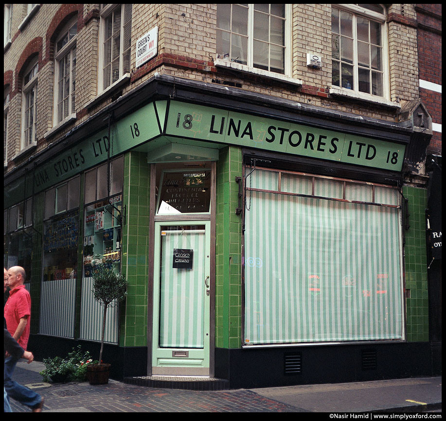 Old shop exterior, London