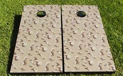 Desert Camouflage Cornhole Boards