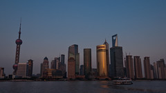 Shanghai Sunset (albi_tai) Tags: sunset skyline evening nikon tramonto shanghai pudong cina sera palazzi d90 grattacieli nikond90 albitai