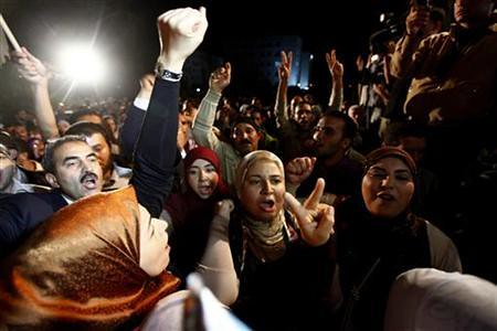 Supporters of the Ennahdha Party celebrating the victory of the Islamist party in Tunisia. The country rose up beginning in December 2010 and drove out longtime leader Ben Ali. by Pan-African News Wire File Photos