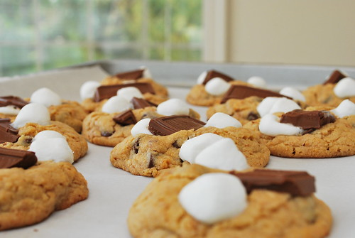 Making S'mores Cookies