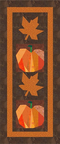 maple and pumpkin wall hanging mock up