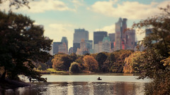 [281] Picture yourself in a boat on a river, with tangerine trees and marmalade skies. (Linh H. Nguyen) Tags: park nyc trees sky lake newyork fall water colors river landscape boat central rowing beatles 365 cmount3517