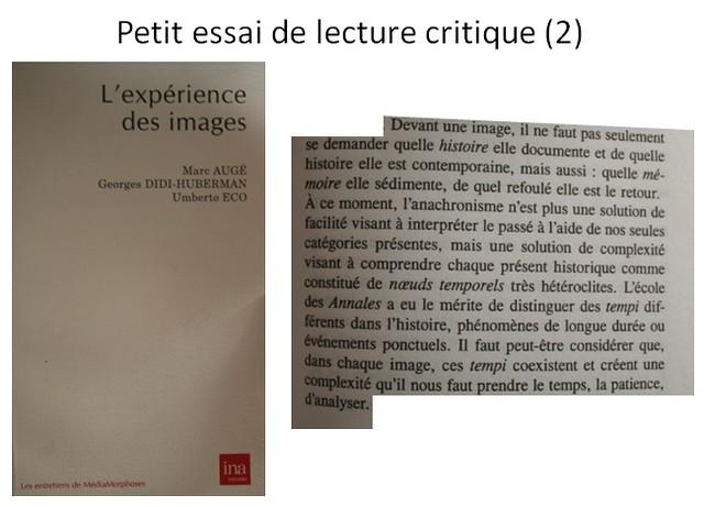 Petit essai de lecture critique (2)