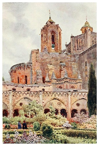 009-Tarragona los claustros-Cathedral cities of Spain 1909- William Wiehe Collins
