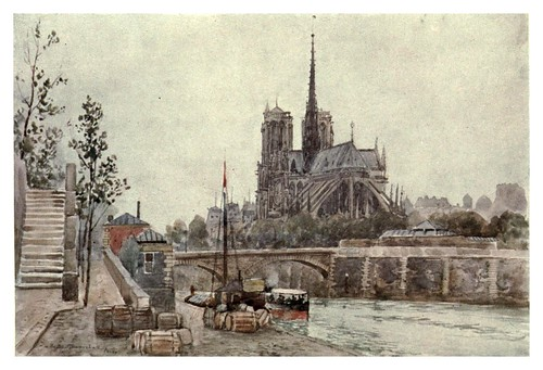 030-Notre Dame de Paris-Cathedral cities of France 1908- Herbert Menzies Marshall