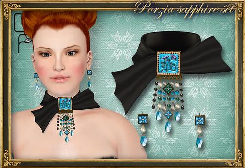 PORZIA saqpphire set