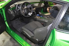 "2011 Synergy Green Camaro 5th Gen custom door panel install • <a style=""font-size:0.8em;"" href=""http://www.flickr.com/photos/85572005@N00/6302944177/"" target=""_blank"">View on Flickr</a>"