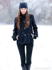 Polina - Fashion / Snow (m.shalaby photography) Tags: