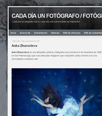 Captura web cadadiaunfotografo.com