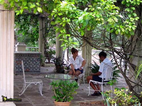 Workers at Hemingway's Museum Cuba