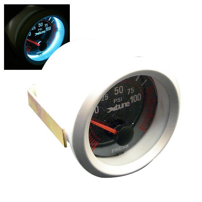 X-Tune 52Mm Carbon Oil Pressure Gauge 6196Sb