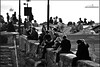 Lovers's wall (M_Verdina) Tags: sea sky people italy boat nikon mediterraneo italia mare liguria barche bn persone genova cielo nikkor biancoenero boccadasse nital porticciolo innamorati flickrbronze flickraward flickrestrellas 55300mmvr