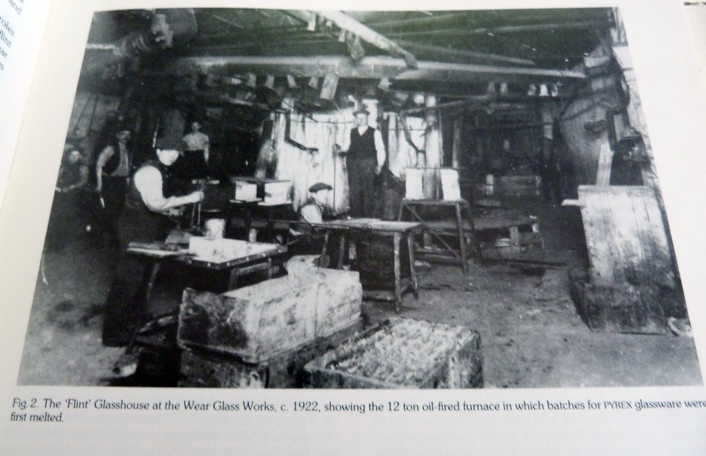 Glasshouse where pyrex was first melted, 1922