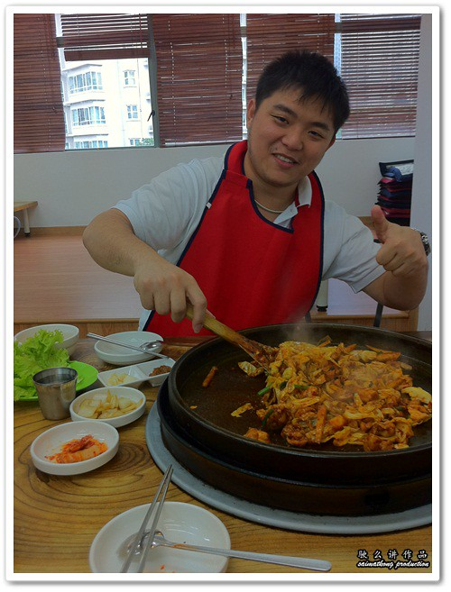saimatkong chef with Dak-Galbi (닭갈비) @ Uncle Jang Korean Restaurant
