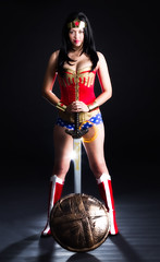 Wonder Woman (VictoriaCosplay) Tags: angelinajolie wonderwoman sword shield dccomics lyndacarter new52 cosplaygirl victoriacosplay