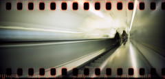 going underground (pho-Tony) Tags: longexposure motion blur film stairs analog 35mm vintage underground toy moving lomo lomography hole metro escalator tube wide going panoramic ishootfilm holes retro line plastic waterloo motionblur walkway commuter londonunderground analogue 135 northern xpan perforations northernline sprocket trilha londontransport tfl 30mm sprockethole filmisnotdead goingunderground kleinbildfilm perforationslcher autaut sprocketrocket sprocketography 24mmx72mm  filme35mmcomtrilha perforeringshl