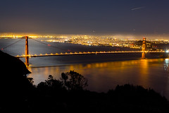 Golden (melfoody) Tags: sanfrancisco reflection night goldengatebridge