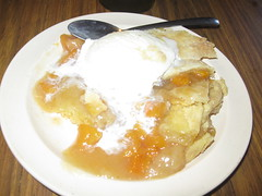 Peach cobbler with ice cream at CS's (LIVING... MAEDEANS STYLE) Tags: food desserts icecream peachcobbler