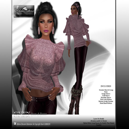 Collection MOREA STYLE CASUAL* GUEN - Rose & Prune*, 380 lindens by Cherokeeh Asteria