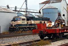 BNSF 9493 (SMT Images) Tags: santa county old railroad k burlington yard rural train sub elevator grain tracks rail line silo missouri monroe lincoln locomotive fe northern bnsf lumber hannibal