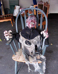 Braaaaainzzzzz!  And legggggzzzz! (Librarianguish) Tags: monster chair zombie 1111 swapmeet invalid overpriced legless notthatgreat braaaaainz anacortesfleamarket leggggggzzz