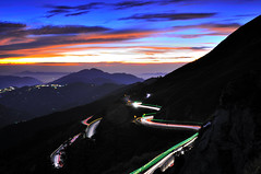 Winding @ (Vincent_Ting) Tags: sunset sky mountain night clouds sunrise star glow taiwan trails galaxy flare formosa   gettyimages crepuscularrays startrails milkyway  seaofclouds            mountainhehuan             vincentting  hthehuan