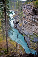 Athabasca Falls (lynn.h.armstrong) Tags: camera blue trees ontario canada green art water grass forest river lens geotagged photography photo moss interesting mac aperture nikon rocks long flickr zoom south images falls erosion lynn h alberta getty nikkor armstrong stormont vr licence afs request athabasca dx sault attribution ingleside 2011 ifed 18200mm athabaska f3556 noderivs vrii d7000 lynnharmstrong