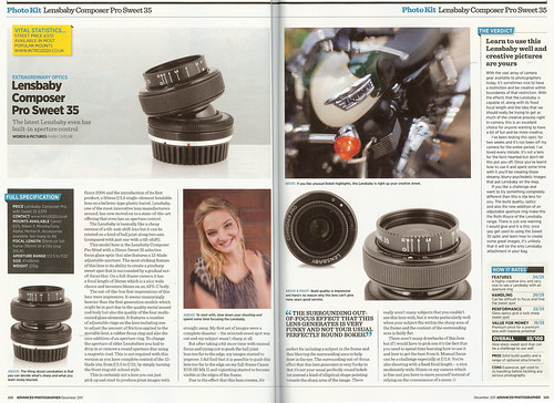 Lensbaby Review - Advanced Photographer (December 2011) by Mark Carline