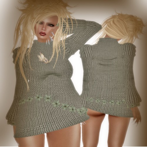 A&A Fashion Sweater/Dress Green
