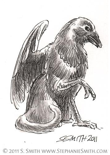 Tiny Griffons ATC #7 Crow