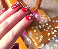 Passo 3 (Ariane Haselmann) Tags: glitter flor unha adesivo esmalte francesinha artística quadriculada