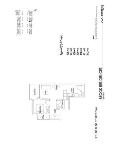 Bedok Residence 1+Study Floorplan