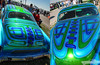 Bare Bones (Chad Horwedel) Tags: blue classic car illinois flames decatur custom scallop barebones airbrush hunnertcarpileup traditionalrod