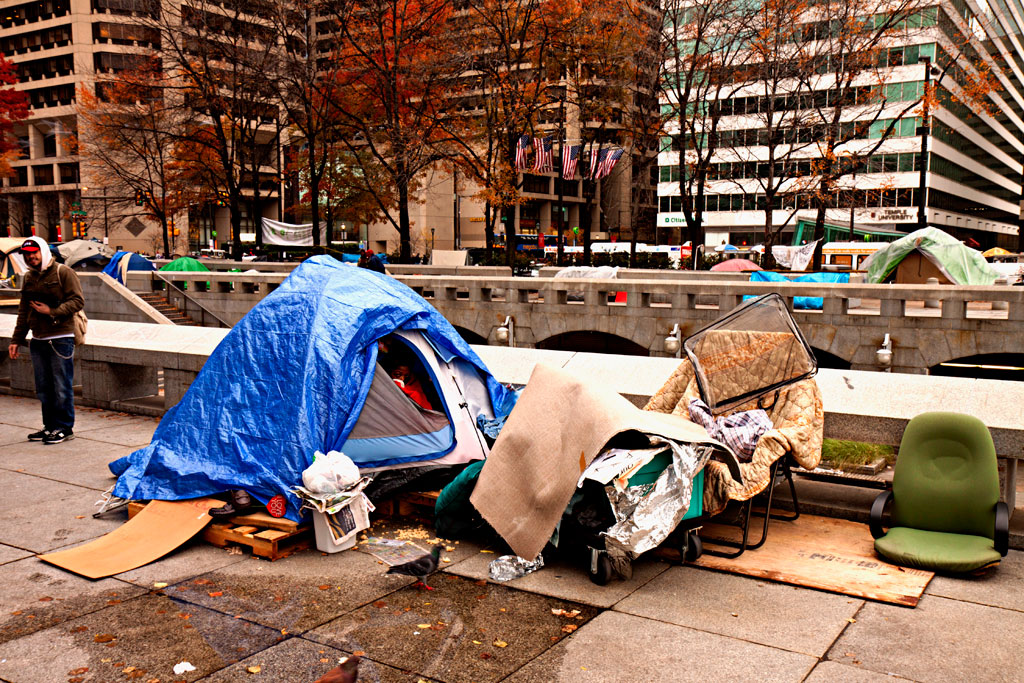 View-of-Occupy-Philly-tent-city-on-11-17-11--Center-City
