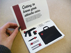 Double-o Series Attache Case manual (Eleanor.Margaret) Tags: typography graphicdesign instructions gadget bookbinding seanconnery jamesbond fromrussiawithlove usermanual attachecase beakbook