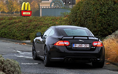 Welcome @ McDonald's (Philippe Collinet Photography) Tags: canon photography automotive 7d jag jaguar usm rs philippe 2012 24105 xk 2011 24105mm collinet xkrs worldcars canoneos7d lserie canonef24105lf4isusm wwwphilippecollinetbe jaguarxkrs2012 542pk 542ps 542bhp