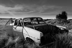 Abandoned Hope (Gav Owen) Tags: blackandwhite abandoned monochrome car landscape blackwhite outdoor australia newsouthwales outback wreck defeat derelict whitecliffs 32 canonef1740mmf4lusm dispair decrepid 2048 camera:make=canon exif:make=canon geo:country=australia canoneos5dmarkii geo:state=newsouthwales camera:model=canoneos5dmarkii gavowen exif:model=canoneos5dmarkii exif:lens=ef1740mmf4lusm exif:aperture=ƒ63 geo:city=whitecliffs geo:lat=3083992 geo:lon=14308393166667 exif:isospeed=100 exif:focallength=31mm geo:location=wanaringrdwhitecliffsnsw2836australia