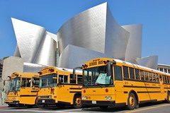 Pasadena Showcase Youth Concert (Karol Franks) Tags: california ca street bus buses frank hall losangeles concert gehry disney architect socal parked waltdisney grandave ilovela pasadenashowcasehouseofdesign