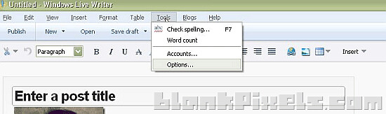 Spell checker, word count and various editing tools are also available