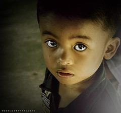 in the eyes of a child.. (Rodel Cabantac) Tags: kid nikon child kidsportrait darktone filipinochild d3100 rodelcabantac