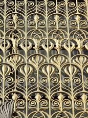 Baltimore MD - Enoch Pratt Library door detail (karma (Karen)) Tags: light doors shadows gates libraries maryland baltimore ironworks mtvernon