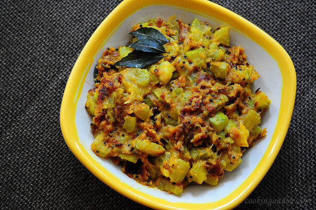 Zucchini Indian Besan Sabji